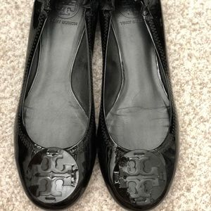 Tory Burch Reva Flat Patent Leather size 10